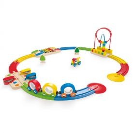 HAPE PISTA TRENINO SIGHT E SOUND 18 mesi