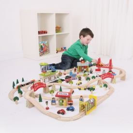BIGJIGS TRANSPORTATION TRAIN SET