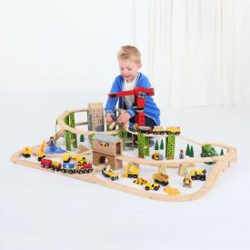 BIGJIGS CONSTRUCTION TRAIN SET